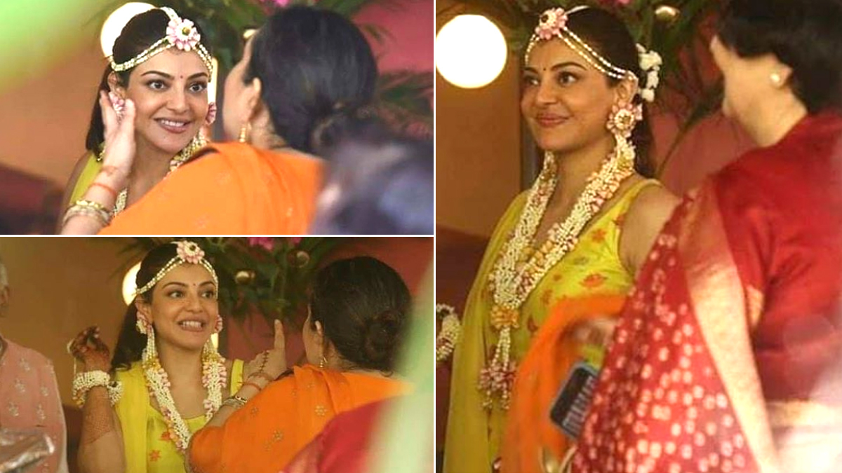 19 pictures from Kajal Aggarwal's pre-wedding festivities