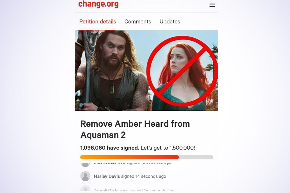 Petition to Remove Amber Heard From Aquaman 2 Launched ...