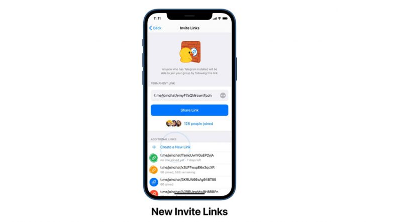 Telegram Expiring Invite Links